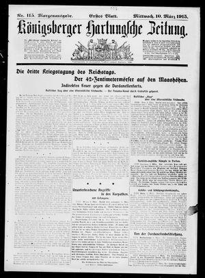 Königsberger Hartungsche Zeitung vom 10.03.1915