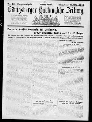 Königsberger Hartungsche Zeitung vom 13.03.1915