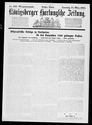 Königsberger Hartungsche Zeitung vom 14.03.1915