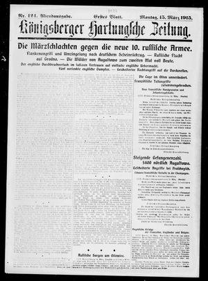Königsberger Hartungsche Zeitung vom 15.03.1915