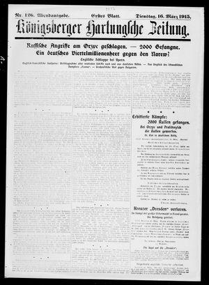 Königsberger Hartungsche Zeitung vom 16.03.1915