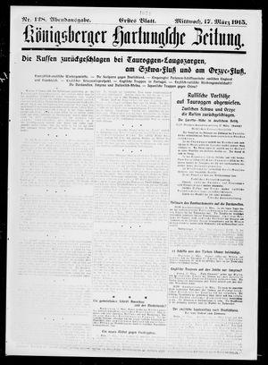 Königsberger Hartungsche Zeitung vom 17.03.1915