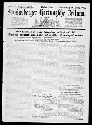 Königsberger Hartungsche Zeitung vom 18.03.1915