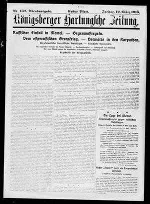 Königsberger Hartungsche Zeitung on Mar 19, 1915