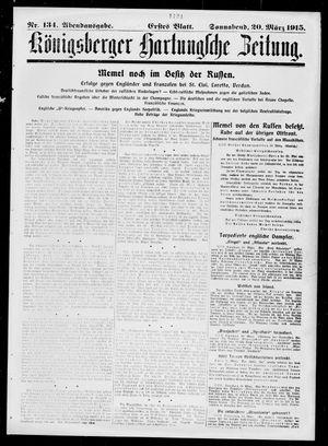 Königsberger Hartungsche Zeitung vom 20.03.1915