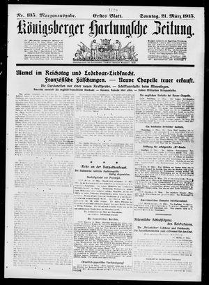 Königsberger Hartungsche Zeitung on Mar 21, 1915
