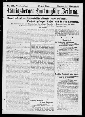 Königsberger Hartungsche Zeitung on Mar 22, 1915