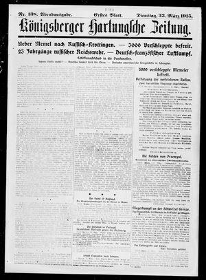 Königsberger Hartungsche Zeitung vom 23.03.1915
