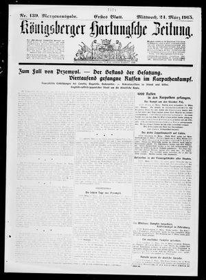 Königsberger Hartungsche Zeitung vom 24.03.1915
