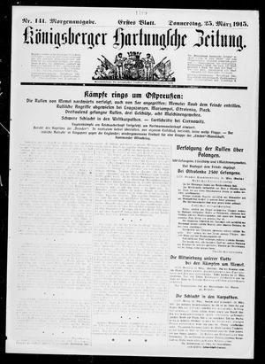 Königsberger Hartungsche Zeitung vom 25.03.1915