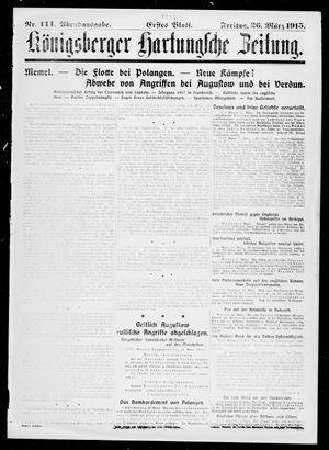 Königsberger Hartungsche Zeitung vom 26.03.1915