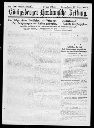 Königsberger Hartungsche Zeitung vom 27.03.1915