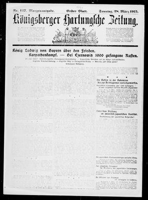 Königsberger Hartungsche Zeitung vom 28.03.1915