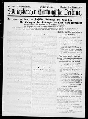 Königsberger Hartungsche Zeitung vom 29.03.1915