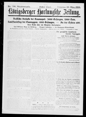 Königsberger Hartungsche Zeitung on Mar 30, 1915