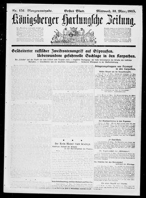 Königsberger Hartungsche Zeitung vom 31.03.1915