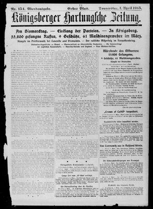 Königsberger Hartungsche Zeitung vom 01.04.1915