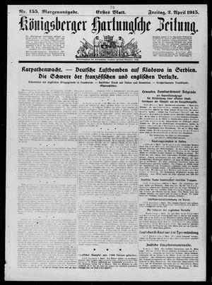 Königsberger Hartungsche Zeitung on Apr 2, 1915