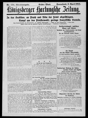 Königsberger Hartungsche Zeitung vom 03.04.1915