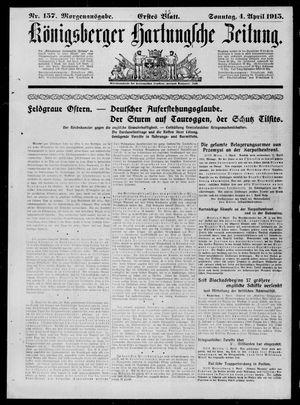 Königsberger Hartungsche Zeitung vom 04.04.1915
