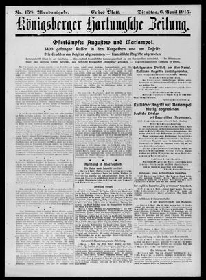 Königsberger Hartungsche Zeitung on Apr 6, 1915