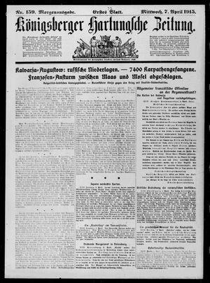 Königsberger Hartungsche Zeitung vom 07.04.1915