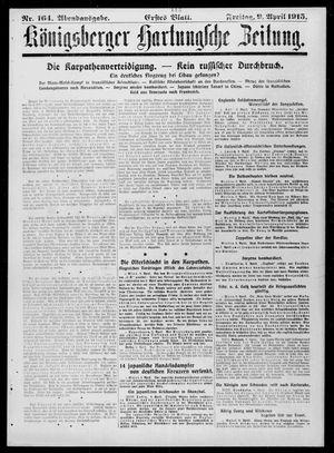 Königsberger Hartungsche Zeitung vom 09.04.1915