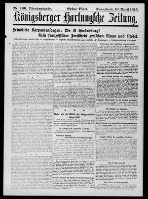 Königsberger Hartungsche Zeitung vom 10.04.1915