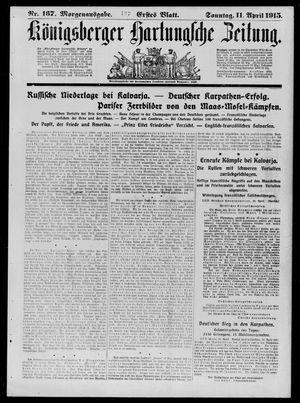 Königsberger Hartungsche Zeitung vom 11.04.1915