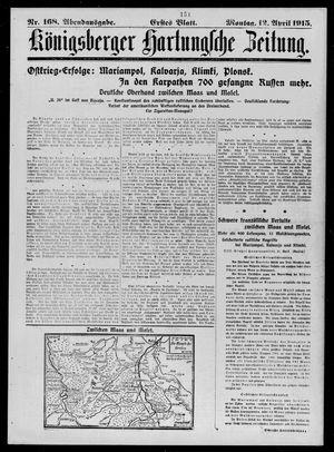 Königsberger Hartungsche Zeitung vom 12.04.1915