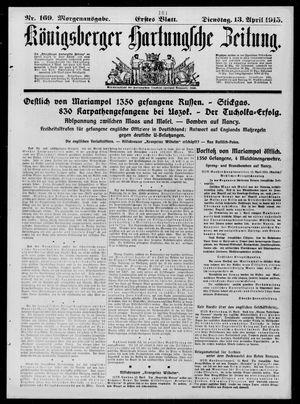 Königsberger Hartungsche Zeitung vom 13.04.1915