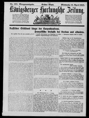 Königsberger Hartungsche Zeitung vom 14.04.1915