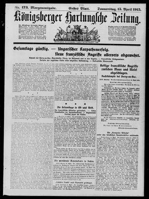 Königsberger Hartungsche Zeitung vom 15.04.1915