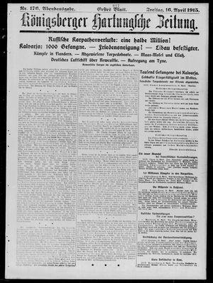 Königsberger Hartungsche Zeitung vom 16.04.1915