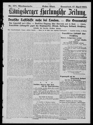 Königsberger Hartungsche Zeitung vom 17.04.1915