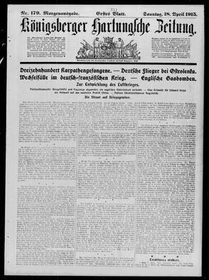 Königsberger Hartungsche Zeitung vom 18.04.1915