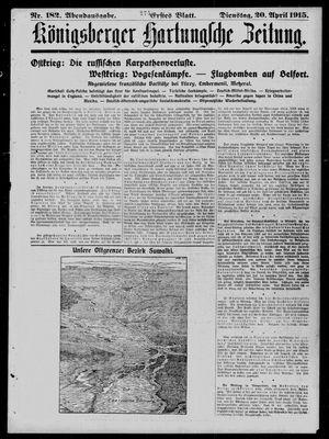 Königsberger Hartungsche Zeitung vom 20.04.1915