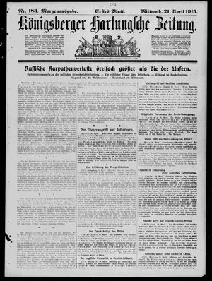 Königsberger Hartungsche Zeitung vom 21.04.1915