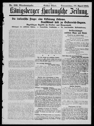 Königsberger Hartungsche Zeitung vom 22.04.1915