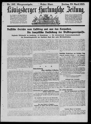 Königsberger Hartungsche Zeitung on Apr 23, 1915