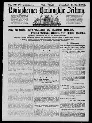 Königsberger Hartungsche Zeitung vom 24.04.1915