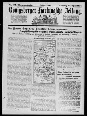 Königsberger Hartungsche Zeitung vom 25.04.1915