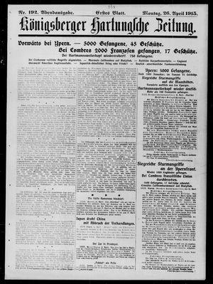 Königsberger Hartungsche Zeitung vom 26.04.1915