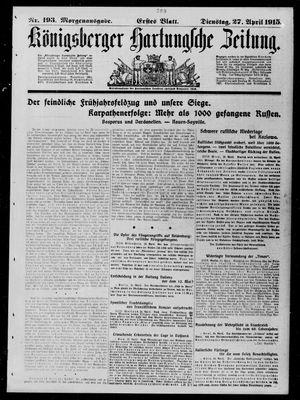 Königsberger Hartungsche Zeitung vom 27.04.1915