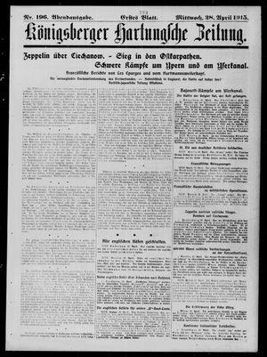 Königsberger Hartungsche Zeitung vom 28.04.1915