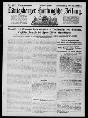 Königsberger Hartungsche Zeitung vom 29.04.1915