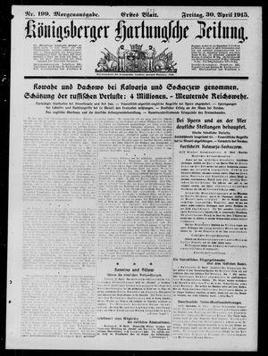 Königsberger Hartungsche Zeitung vom 30.04.1915