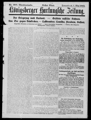 Königsberger Hartungsche Zeitung vom 01.05.1915