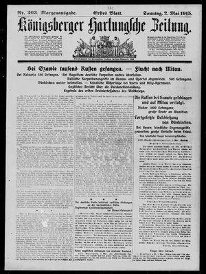 Königsberger Hartungsche Zeitung vom 02.05.1915