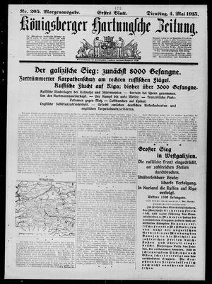 Königsberger Hartungsche Zeitung vom 04.05.1915
